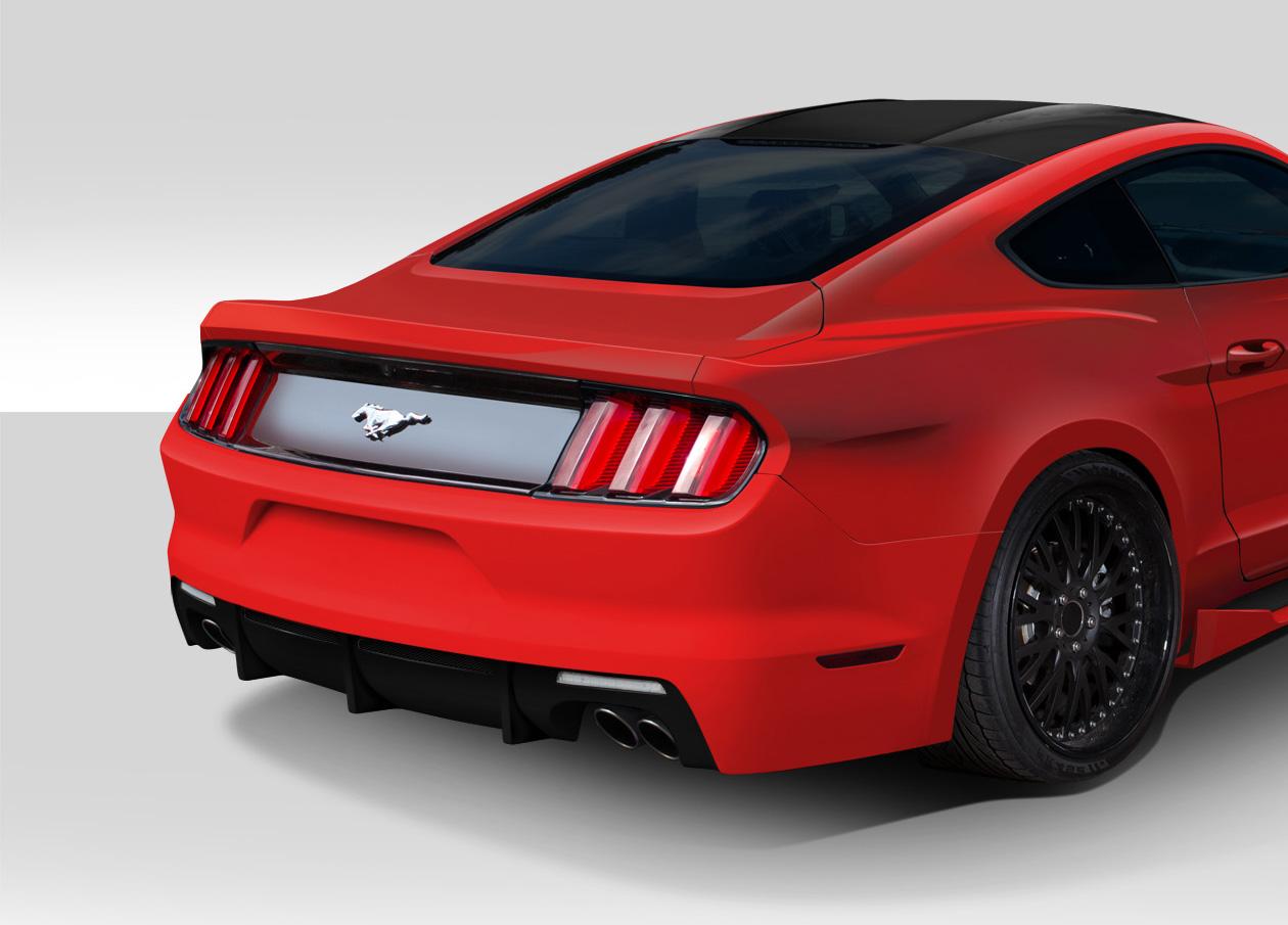 2015 2017 fits ford mustang grid rear bumper cover 1. Black Bedroom Furniture Sets. Home Design Ideas