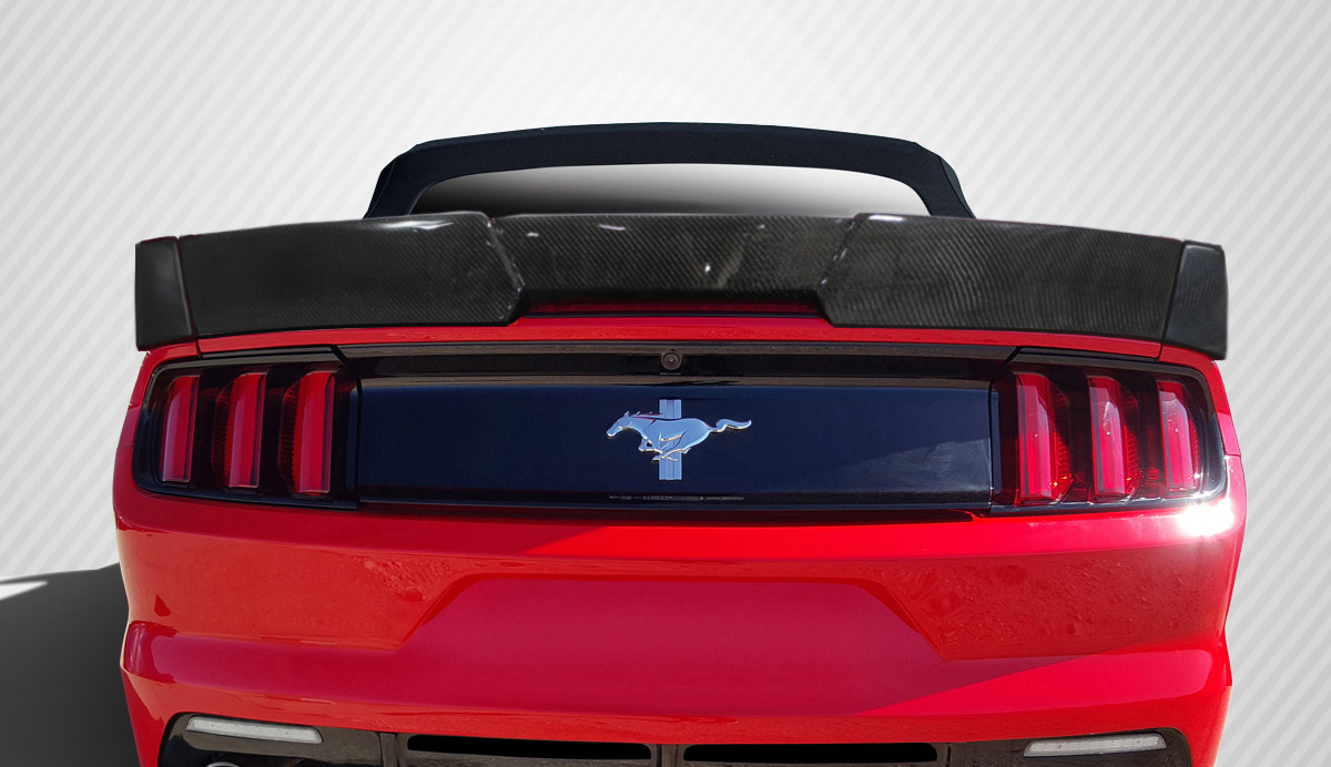 2015 2017 fits ford mustang convertible grid rear wing. Black Bedroom Furniture Sets. Home Design Ideas