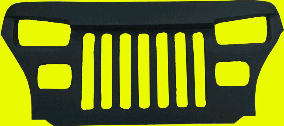1987 95 Fits Jeep Wrangler Yj Overlay Grille Grill Mean