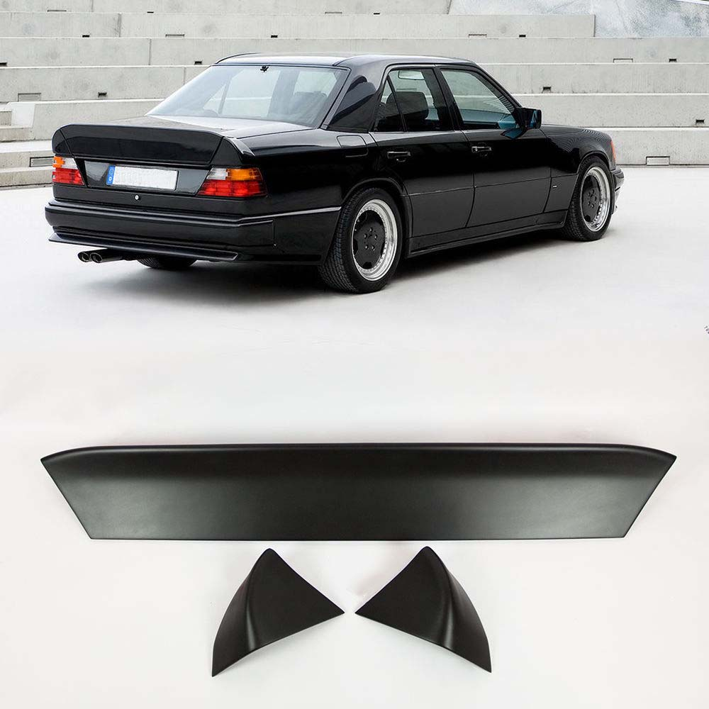 Fits mercedes benz w124 sedan amg style spoiler ducktail for Aftermarket parts mercedes benz