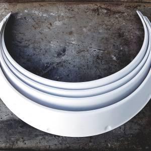 Fender Flares Universal white fiberglass