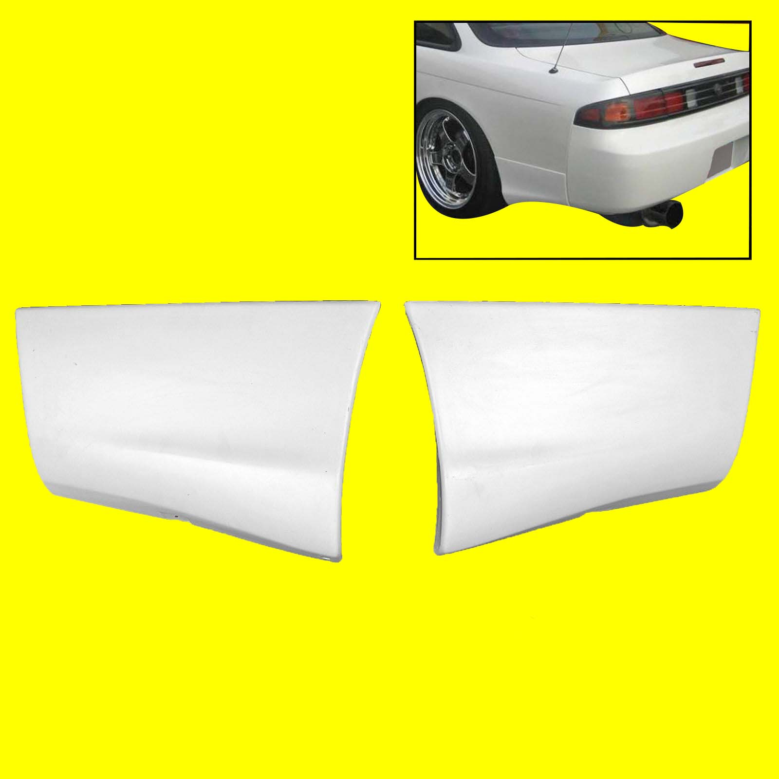 Rear Bumper Side Skirt Valance Lip Fit For Silvia S14 Zenki 200SX 240SX  95-96