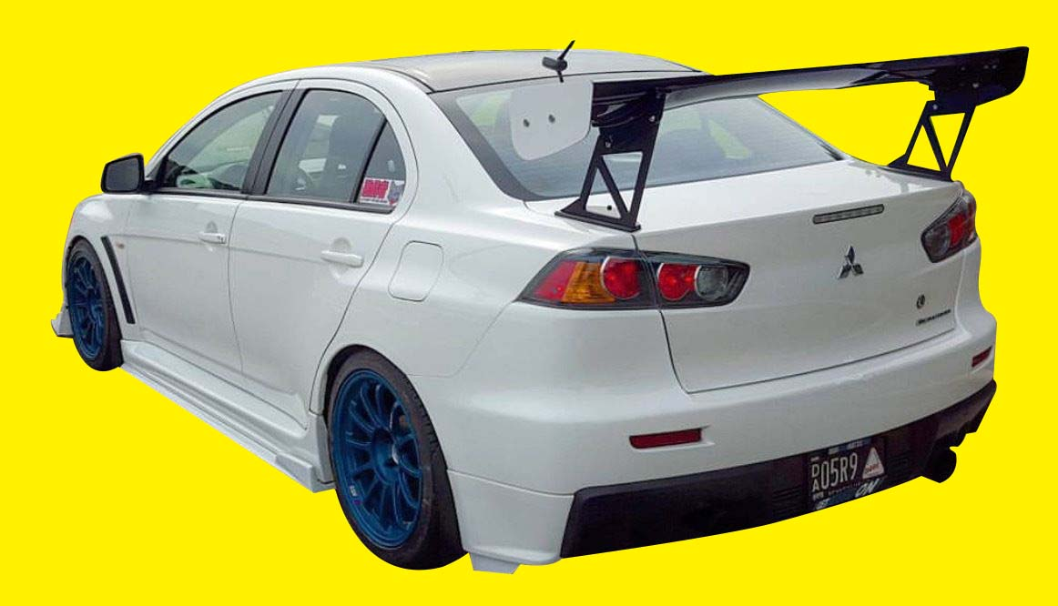 Fits: Mitsubishi EVO X EVOLUTION 10 FRP SIDE SKIRT EXTENSIONS SPLITTERS  UNDER LIPS