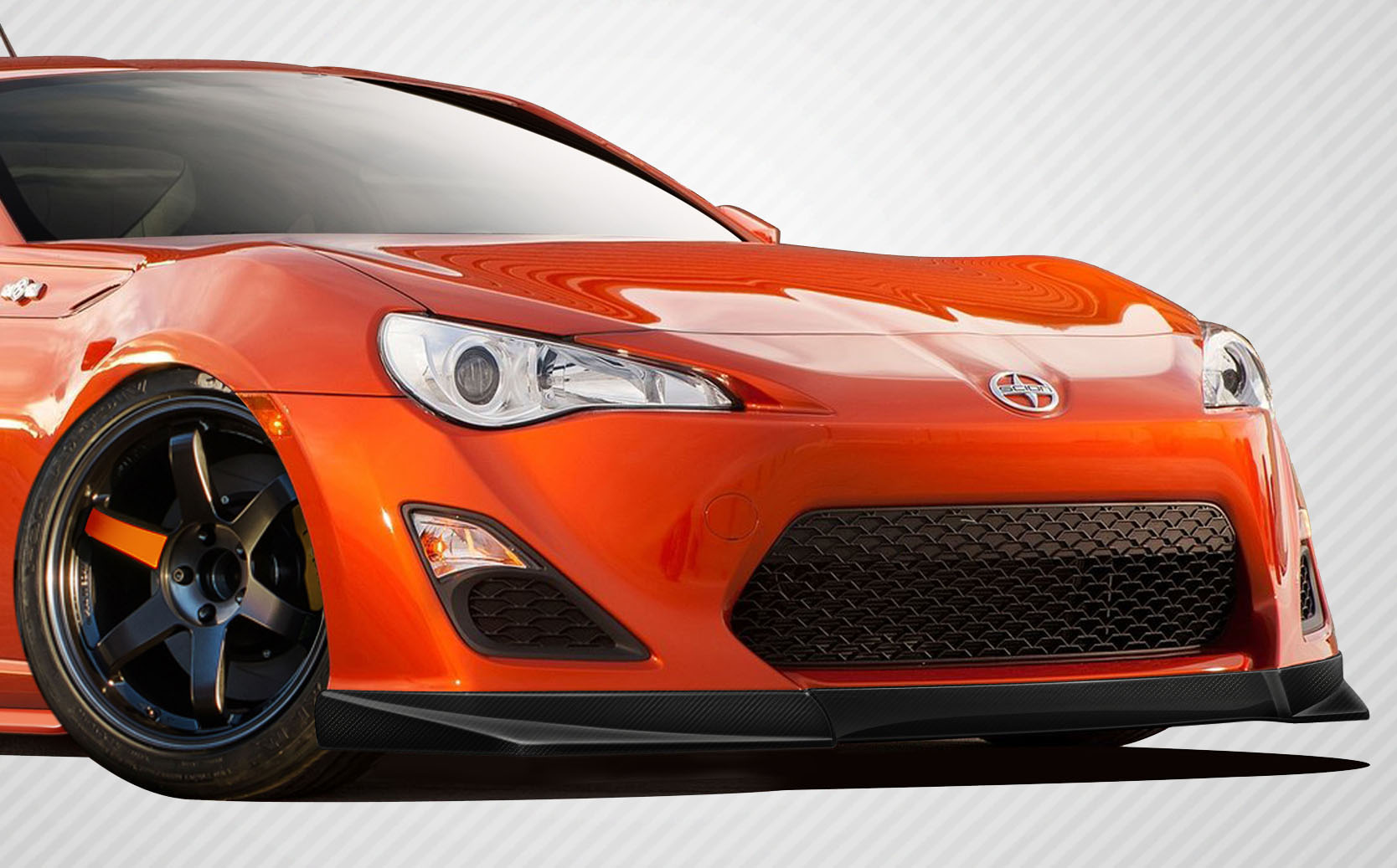 2013 2016 fits scion fr s carbon creations st c front lip. Black Bedroom Furniture Sets. Home Design Ideas