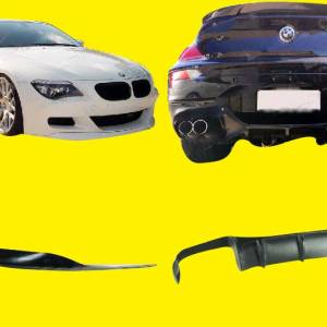 UNPAINTED 05-10 BMW E63 M6 COUPE & CONVERTIBLE V TYPE FRONT LIP + DIFFUSER