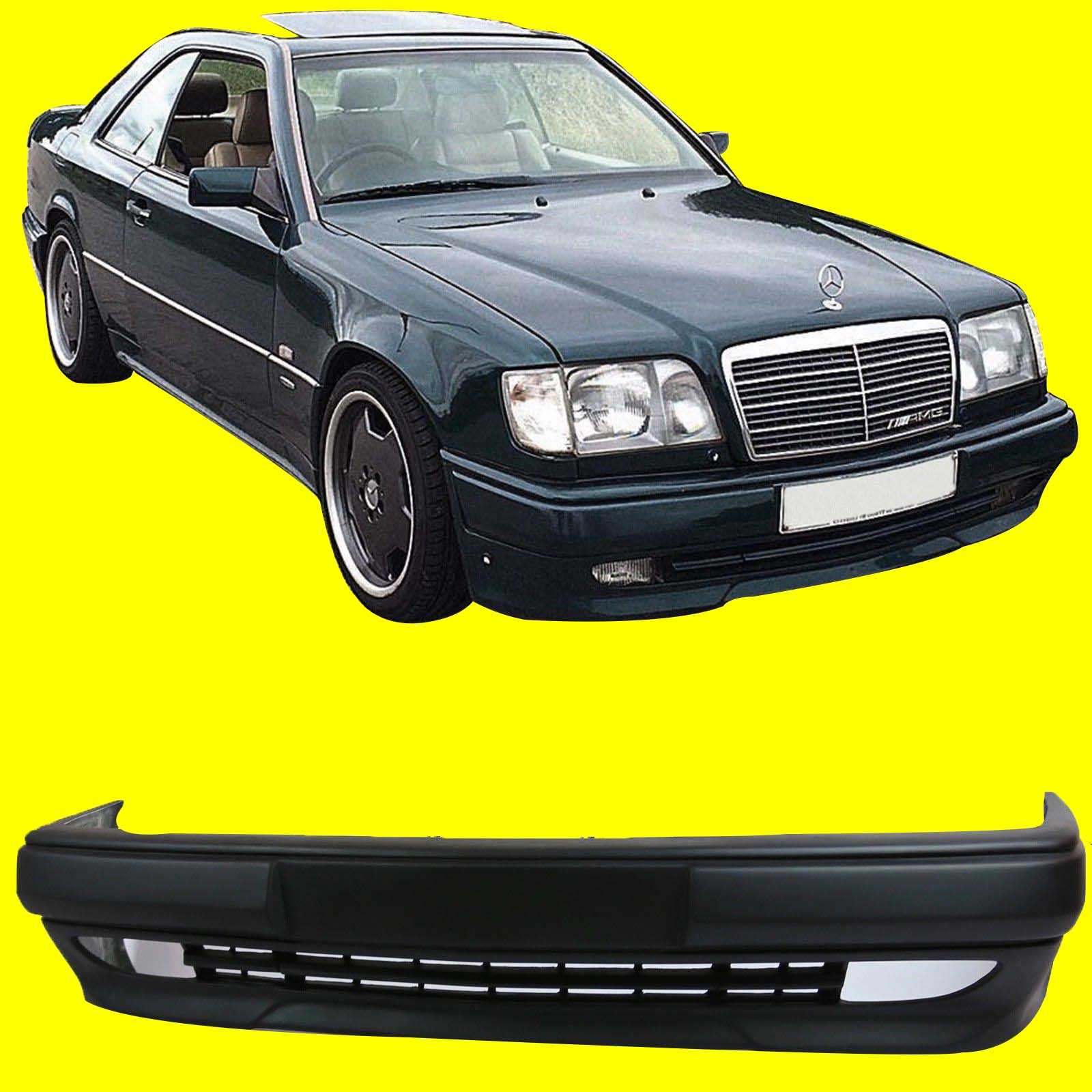 Fits mercedes benz class w124 amg 3 style front bumper for Mercedes benz front bumper parts