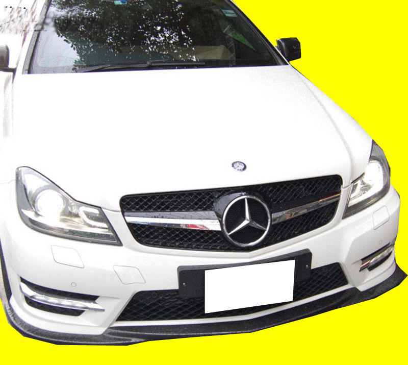 12-14 W204 4DR GODHAND STYLE FRONT BUMPER LIP SPOILER